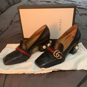 Gucci Marmont Loafers with pearl heel
